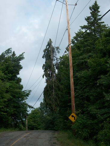 Damage After July 19 Storm Mille-Isles, Quebec Canada