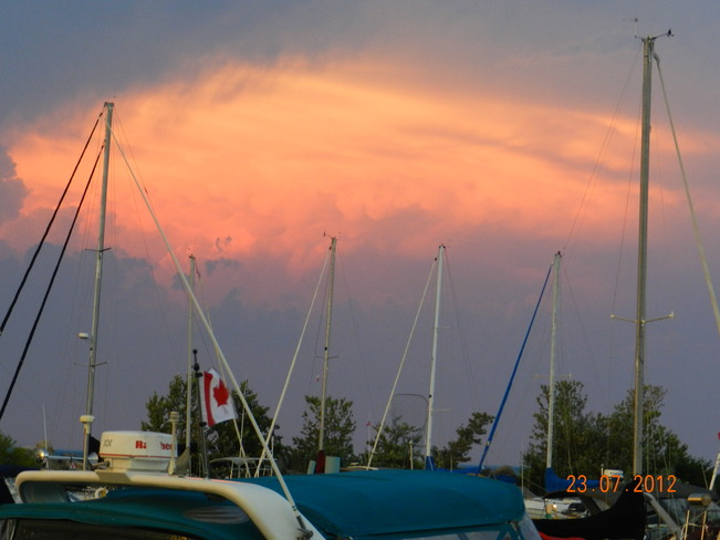 Port Dalhousie Marina Sunset St. Catharines, Ontario Canada