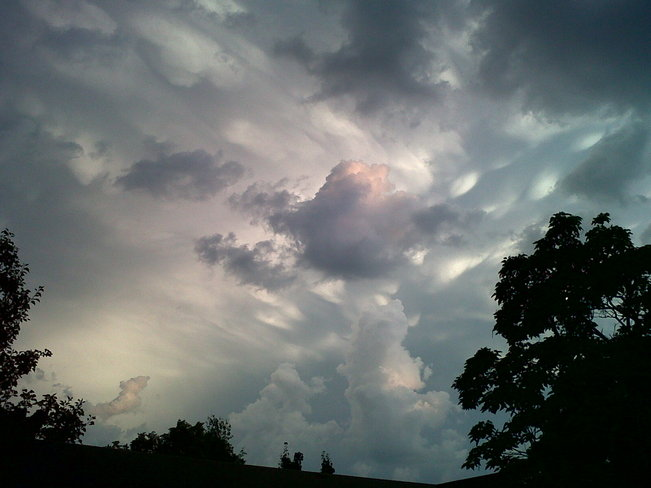 The sky after a severe thunderstorm Etobicoke, Ontario Canada