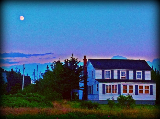 beautiful moon Twillingate, Newfoundland and Labrador Canada