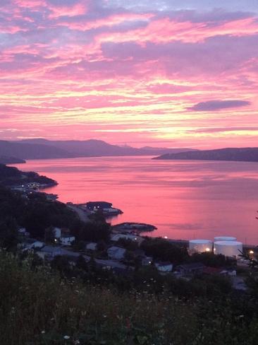 pink sky Humber Arm South, Newfoundland and Labrador Canada