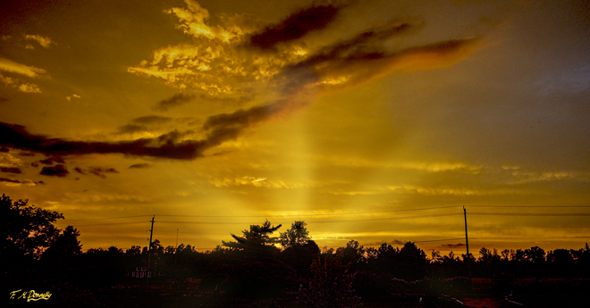Beautiful Sunset after all the Storms Smiths Falls, Ontario Canada