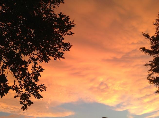 Orange sky Scarborough, Ontario Canada
