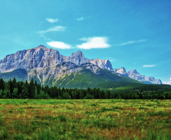 Mount Rundle - from Canmore Canmore, Alberta Canada