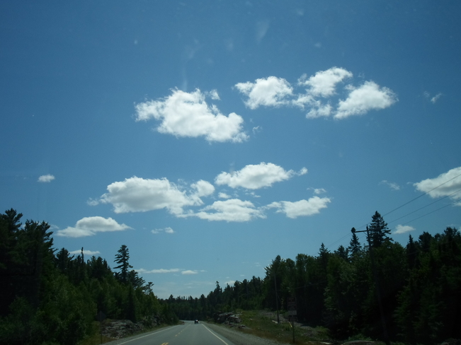 Day after the storm Elliot Lake, Ontario Canada