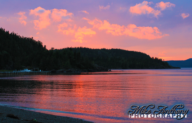 Sunset over Boot Harbour, NL Robert's Arm, Newfoundland and Labrador Canada