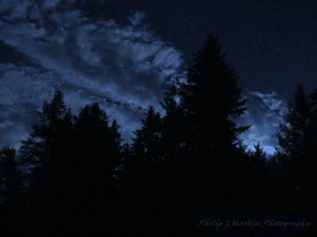 Clouds at Midnite Nelson, British Columbia Canada