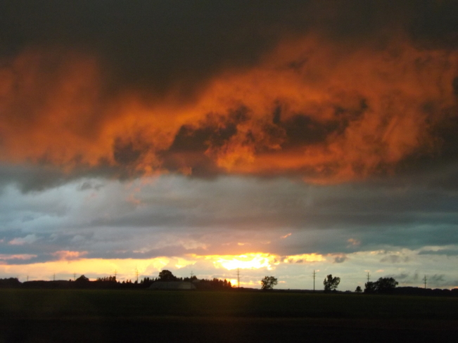 Sunset after the storm Carman, Manitoba Canada