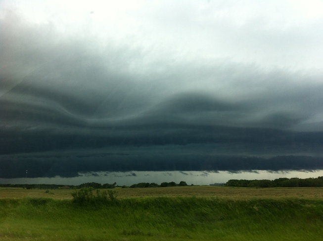 wavy cloud Duff, Saskatchewan Canada
