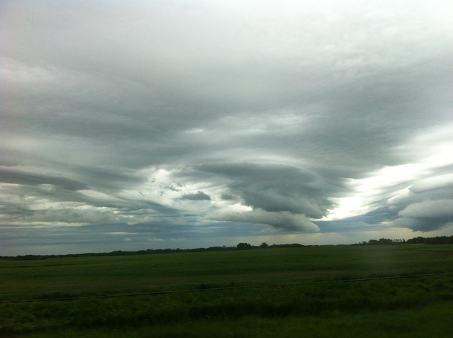 is that a funnel cloud? Duff, Saskatchewan Canada
