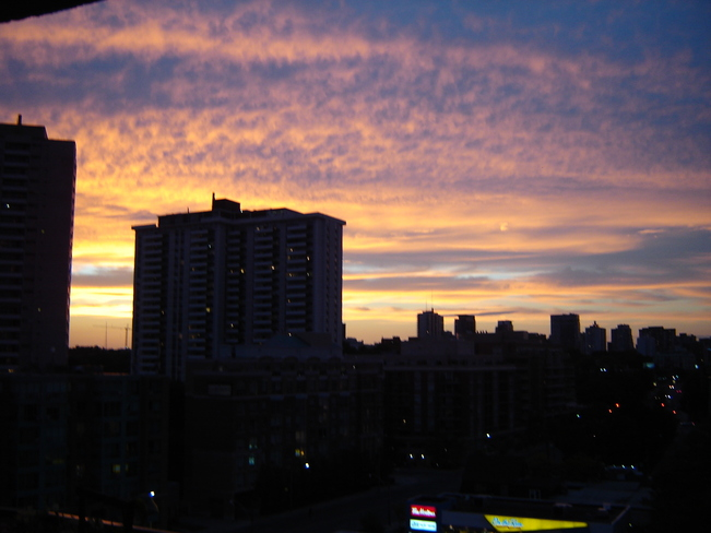 beautiful sunset in the city Toronto, Ontario Canada