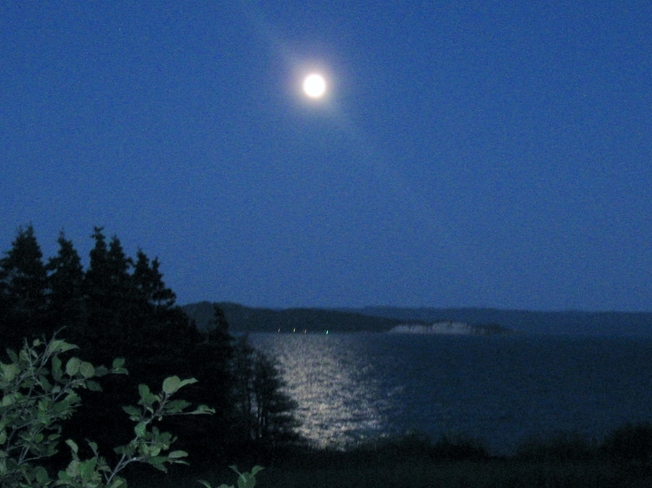 Moonrise over Bay St. George Kippens, Newfoundland and Labrador Canada
