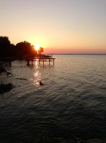 lake sunset Tecumseh, Ontario Canada