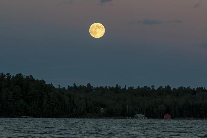 Super Moon Sioux Narrows - Nestor Falls, Ontario Canada