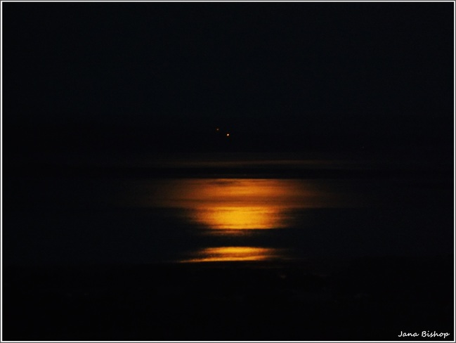 Moon Reflecting Over the Water Canning, Nova Scotia Canada