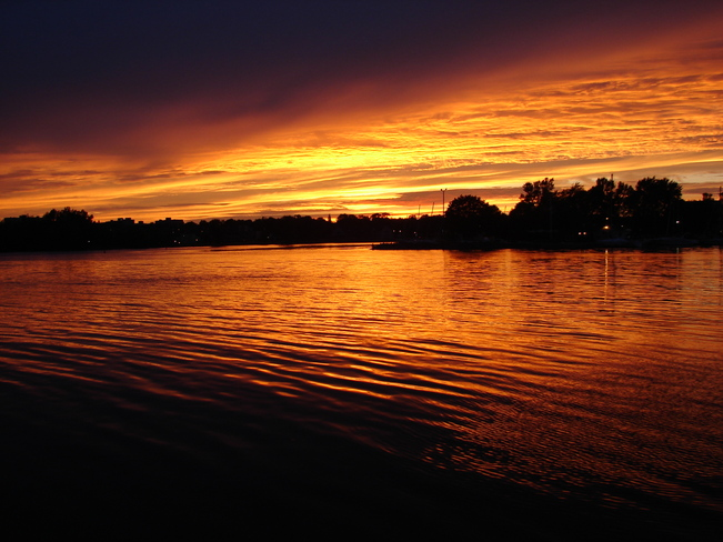 Sunset on the Bay of Quinte Belleville, Ontario Canada