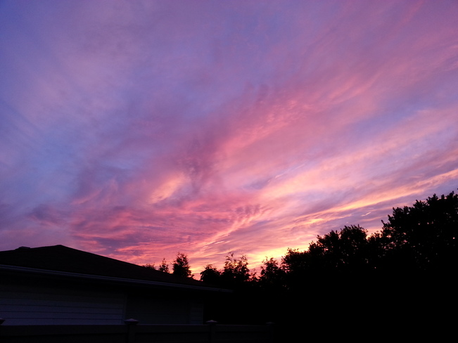 Pink Sunset Cornwall, Ontario Canada