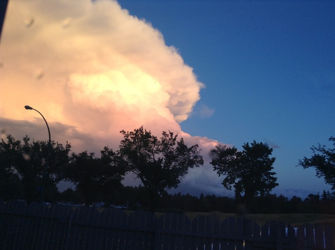 largest cloud with blue sky Regina, Saskatchewan Canada