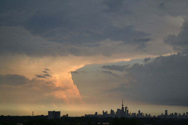 Two Storm Clouds Toronto, Ontario Canada