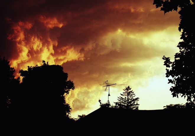 stormy sky sunset Windsor, Ontario Canada