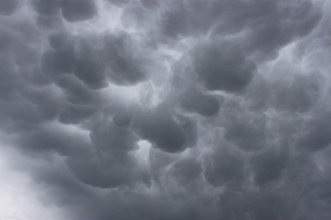 Mammatus Clouds Swift Current, Saskatchewan Canada