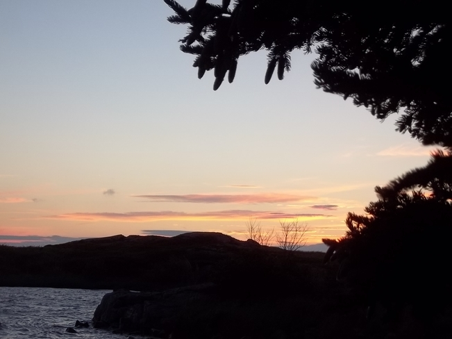 Sunset Birchy Bay, Newfoundland and Labrador Canada