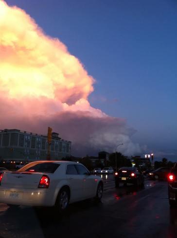 Regina thunderstorm leaving Regina, Saskatchewan Canada