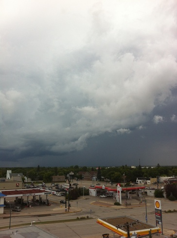 storm is coming Selkirk, Manitoba Canada