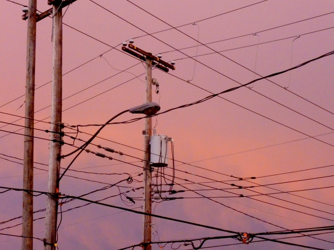 Powerlines at Sunset Lachine, Quebec Canada