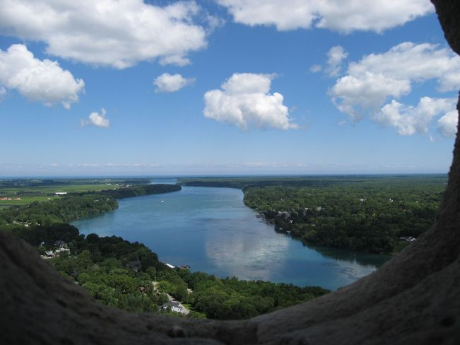 Niagara River from top of Brock's Monument Queenston, Ontario Canada