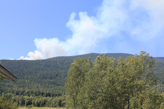 Forest Fire in Winlaw, BC Vallican, British Columbia Canada