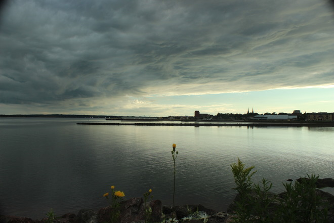 Heavy Clouds before Sunset Charlottetown, Prince Edward Island Canada