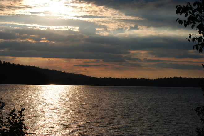 Sunset by the lake Latchford, Ontario Canada