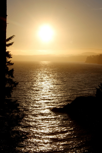 days end Sooke, British Columbia Canada