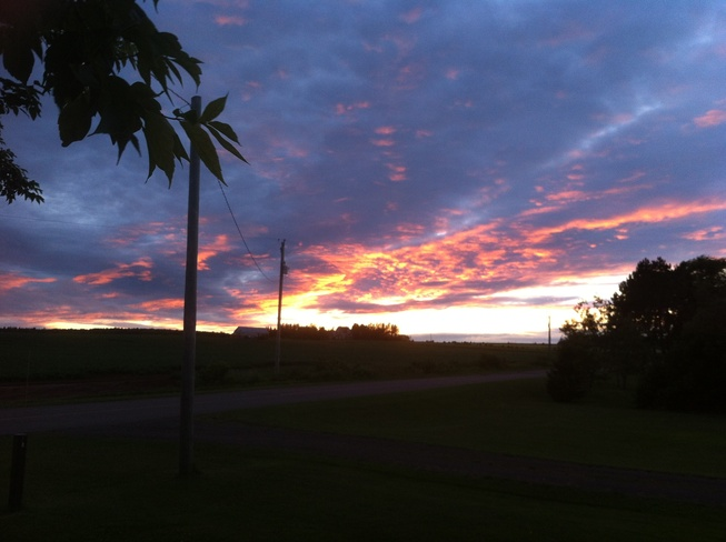 Red Sky at Night Malpeque, Prince Edward Island Canada