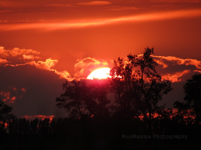 Red Sunset Brussels, Ontario Canada