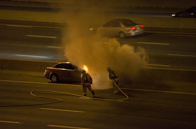 Fire on the Gardiner 2 Toronto, Ontario Canada