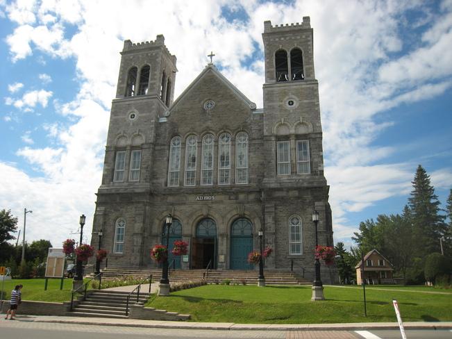 Cathedral at St Agathe Sainte-Agathe-des-Monts, Quebec Canada