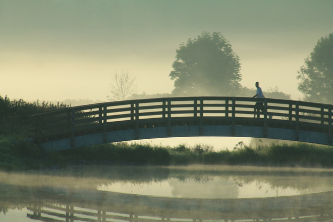 morning mists Abbotsford, British Columbia Canada
