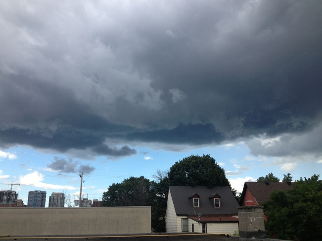 storm cloud over market Ottawa, Ontario Canada