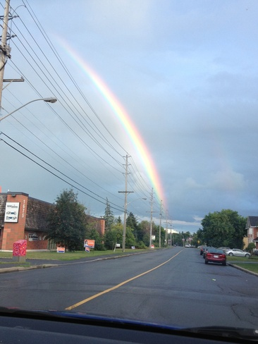 the end of a rainbow :-) Ottawa, Ontario Canada