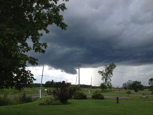 possible tornado Bourget, Ontario Canada