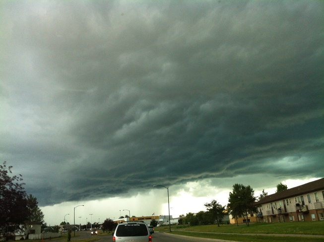 scary clouds Thompson, Manitoba Canada