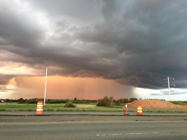 Beautiful storm Sherwood Park, Alberta Canada