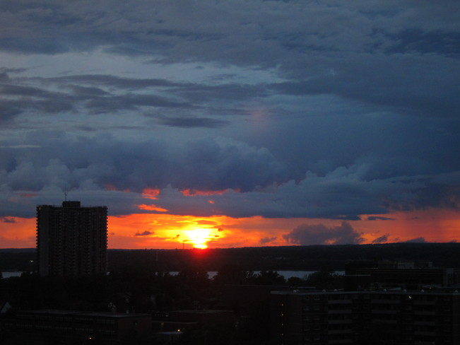 Sunset after storm July 29 Ottawa, Ontario Canada