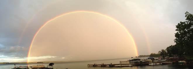 Double Rainbow Bobcaygeon, Ontario Canada