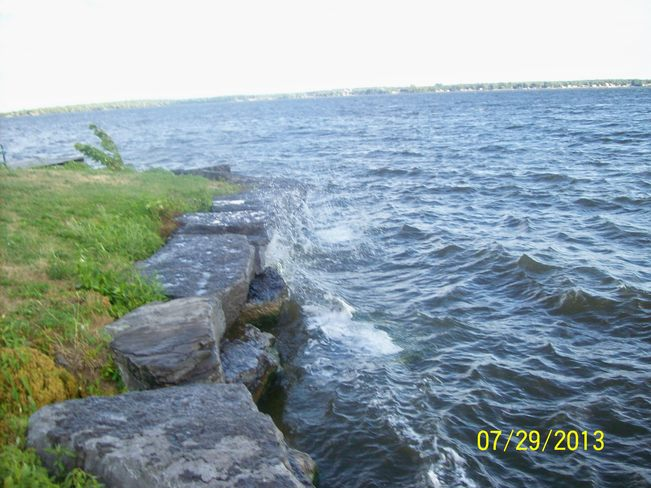 Winds making things Choppy on the Bay of Quinte Belleville, Ontario Canada