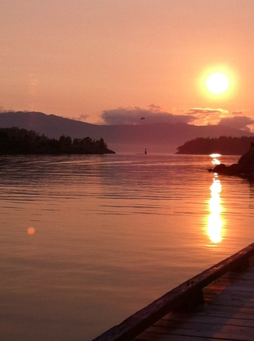 Sunset at Pender Harbour B C Sechelt, British Columbia Canada