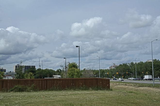 Cumulus clouds on a cool breezy afternoon,