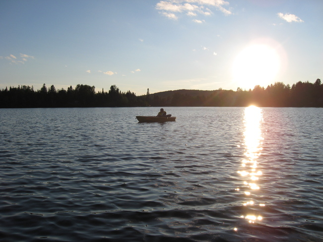 Kayaking on Lac Gagnon Sainte-Agathe-des-Monts, Quebec Canada